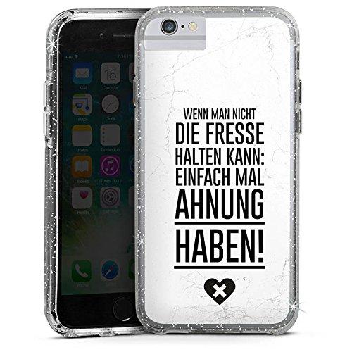 Apple iPhone 7 Plus Bumper Hülle Bumper Case Glitzer Hülle Funny Lustig Humor Bumper Case Glitzer silber