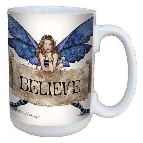 Tree-Free Greetings lm43540 15 oz Sweet Believe Fairy Ceramic Mug with Full Sized Handle