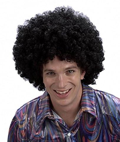 NEW Homme Mesdames perruque afro bouclés déguisement parties Multi Couleurs Clown perruque Funky Disco