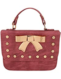 purses for women branded leather by EDGEKART | Stylish shinning PU Leather Brown For Women and Girls