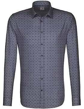 Seidensticker -  Camicia classiche  - Floreale - Classico  - Maniche lunghe  - Uomo