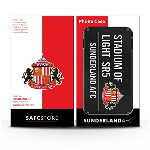 Officiel Sunderland AFC Coque / Matte Robuste Antichoc Etui pour Apple iPhone SE / Pack 6pcs Design / SAFC Stadium of Light Signe Collection Noir/Blanc