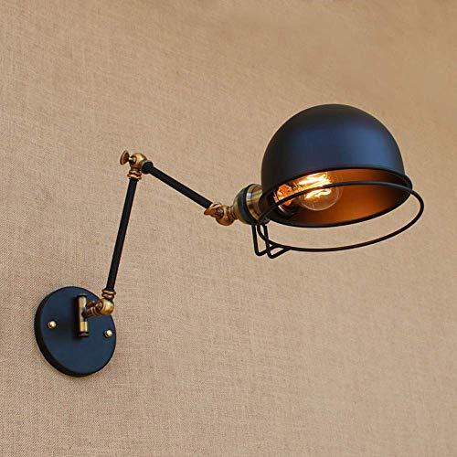 Loft Swing Arm (Verstellbare industrielle Edison Vintage Wandleuchte Retro Loft Swing Arm lange Wandschutz Licht Schlafzimmer Interieur Wohnzimmer Dekoration Leuchte pa)