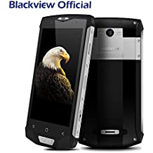 Blackview BV8000 Pro Teléfonos Móviles 6 + 64GB ROM - Android 7.0 Smartphone libre (Octa Core, 16MP Cámara, 4180mAh Batería, 5.0 pulgadas FHD pantalla, NFC, 4G) Impermeable/Antipolvos/Antigolpes Móviles libres - Plata