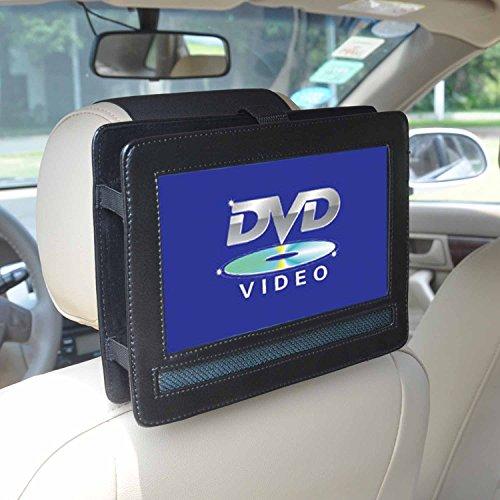 """Auto KFZ Kopfstützen Halterung (PU Leder) für 9 Zoll DVD-Player mit Neigungs- und Schwenkfunktion - AEG CTV 4959 portabler LCD DVD-Player / Philips PD9025/12 Tragbarer DVD-Player / Odys Furo tragbarer DVD Player X820009 / COOAU 9,5 """" Tragbarer DVD Player (ASIN: B01LZZH6V2) / amzdeal 9 Zoll Tragbarer DVD Player (ASIN: B01IVDT2LU ) und Andere"""