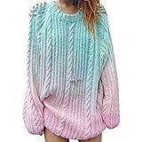 Frauen Pullover lose Pullover gestrickte Farbverlauf Mode Twist Perlen Pullover