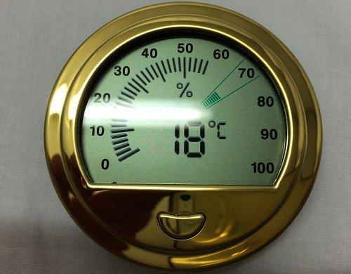 Hygrometer Digital, rund