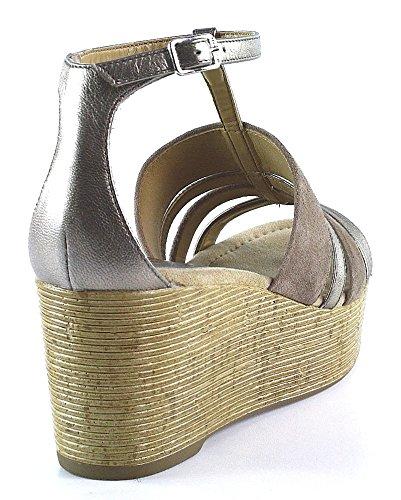 Unisa Schuhe | Keilsandalette | beige taupe Beige