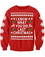 I Know What You Did Last Christmas Funny Novelty Sweatshirt Jumper Adults