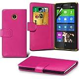 (Pink) Nokia X Custom Designed Stilvolle Accessoires zur Auswahl Schutzmaßnahmen Kunst Credit / Debit-Karten-Leder-Buch-Art Wallet Case Hülle & LCD-Display Schutzfolie von Hülle Spyrox