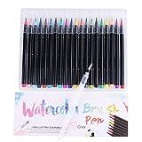 Global Brands Online 20 Couleur Premium Peinture Soft Brosse Stylo Set Aquarelle Marqueurs Stylo Pour Coloriage Livres Manga Comic