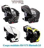 Casque de Moto Viper RS-V171 Casque Avant Bluetooth 3.0 Avant ECE 22.05 ACU...