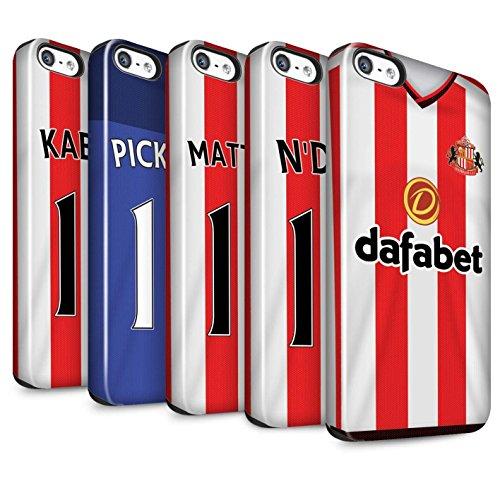 Offiziell Sunderland AFC Hülle / Glanz Harten Stoßfest Case für Apple iPhone 5/5S / Pack 24pcs Muster / SAFC Trikot Home 15/16 Kollektion Pack 24pcs