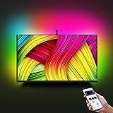 Smart LED TV Hintergrundbeleuchtung Kit mit mini Kamera, Minger 2,6M RGB LED Streifen mit APP, 3 Modus (Video, Musik, Benutzerdefiniert) LED Strips Set kompatibel für jedes TV-Signal (nicht nur HDMI) - 55 bis 65 Zoll