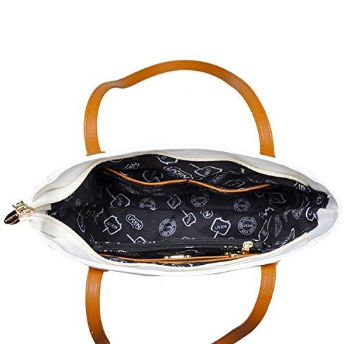 Damen Kunst Leinwand Tasche Schultertasche Einfach Big Bag Große Kapazität Tragbar Einkaufstasche Yellow