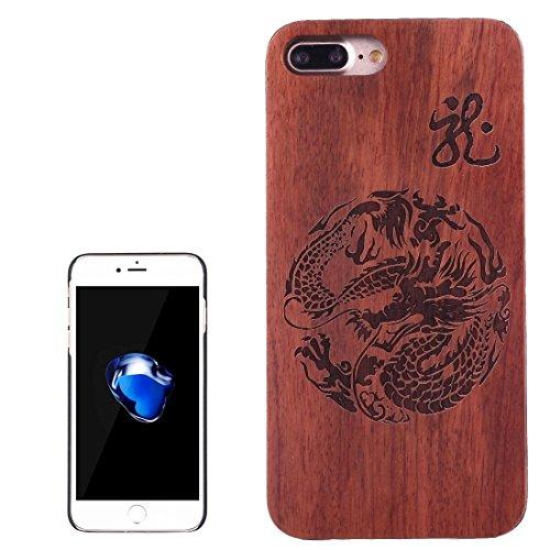 Jusheng Künstlerische Carving Dragon Totem Muster Palisander + PC Bordure Schutzmaßnahmen zurück Fall Shell für iPhone 7 Plus (SKU :...