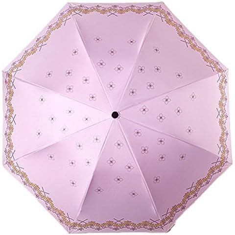 Paraguas plegable clásico plegable de viaje, xagoo® Resistente Al Viento, sólido, perfecto para mujeres