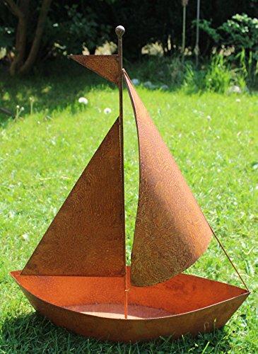 Blümelhuber Edelrost Schiff zum bepflanzen Gartendeko 65cm hoch / 54cm lang