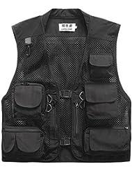 Multi-poche Mesh Gilet Vest de p¨ºche Photographie en plein air Escalade Jacket