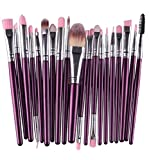 Tonsee 20pcs/set Makeup Brush Set tools Make-up Toiletry Kit Wool Make Up Brush Set (lila)