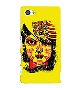 Fuson Yellow Face Pattern Back Case Cover for SONY XPERIA Z5 COMPACT - D3910