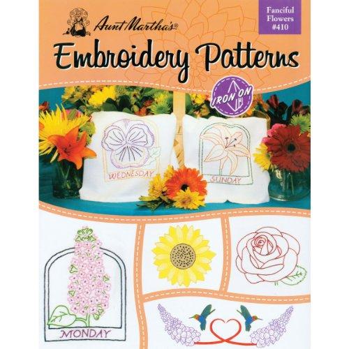 Tante Martha 's Fanciful Blumen Stickerei Transfer Muster Buch Kit (Tante Marthas Stickerei Transfers)