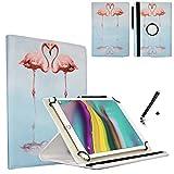 JP-WELT Tablethülle für Blaupunkt Endeavour 101G Schutzhüllen Tablet Case Tasche Hülle - 10.1 (10.5) Zoll Flamingo/Flamingos