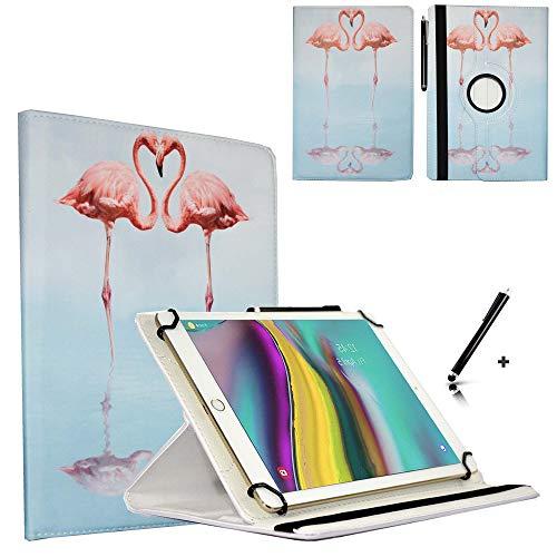 JP-WELT Tablethülle für Denver TAQ-10182 Schutzhüllen Tablet Case Tasche Hülle - 10.1 (10.5) Zoll Flamingo/Flamingos