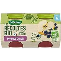 Blédina les Récoltes Bio 2 Petits Pots Pommes Cassis 260 g -