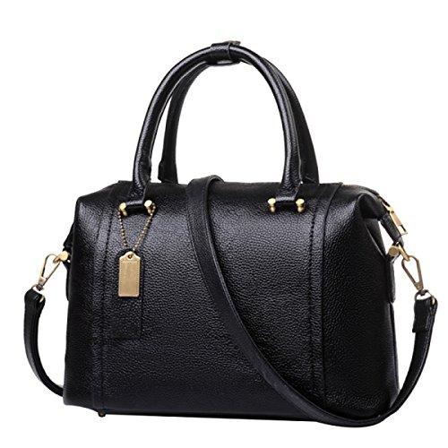 Frauen Tote Bag Schultertasche Mode Elegant Große Kapazität Tasche PU Leder Umhängetasche Damen Handtasche Damen Schwarze Tasche Black