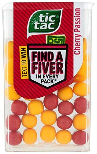 Tic Tac Kirsche Leidenschaft Flavour Pack Of 24x18g Tubs (Tic Tac Süßigkeiten)