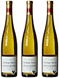 Arthur Metz France Alsace Vin Blanc Gewurztraminer AOP 2015 75 cl - Lot de 3