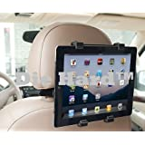 Die Hard Car Headrest Mount Holder/Rotating Cradle Back Seat Dock Stand for iPad/Samsung Tab/Kindle and Other Tablets from 7 to 10 inch (Black)