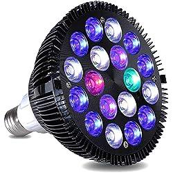 KINGBO LED Aquarium Beleuchtung Nano, 18 Watt LED Aquarienbeleuchtung Lamp Vollspektrum Reef Korallen Meerwasser Meeresfrüchte Fisch Tank Lampe