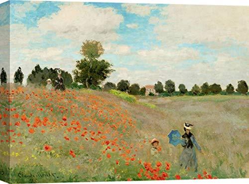 Art Print Cafe - Kunstdruck auf Leinwand - Claude Monet, Mohnblumen - 70x50 cm - Cafe Leinwand