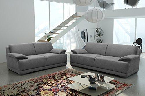 ALESSANDRIA 2er Boxspringsofa 2-Sitzer Sofa Couch Dunkelgrau -