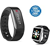Captcha Apple IPhone 7 Compatible Certified New Bracelet Heart Rate Monitor & Waterproof With A1 Bluetooth Smartwatch With Sim & TF Card Support (1 Year Warranty)