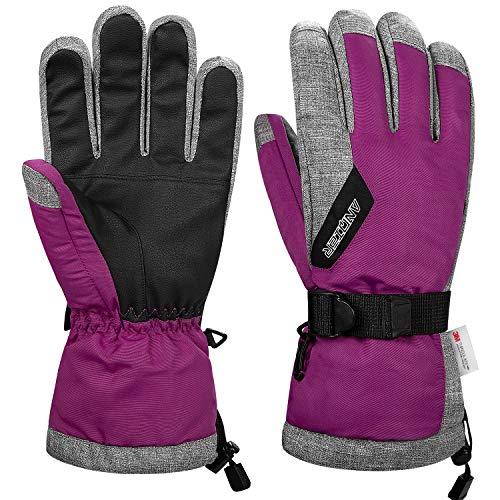 guanti sci donna coskefy Guanti Invernali Guanti Sci Impermeabili da Uomo e Donna Guanti Neve Termico Antivento Sottoguanti Sci Termici con 3M Thinsulate Isolation Ski Gloves