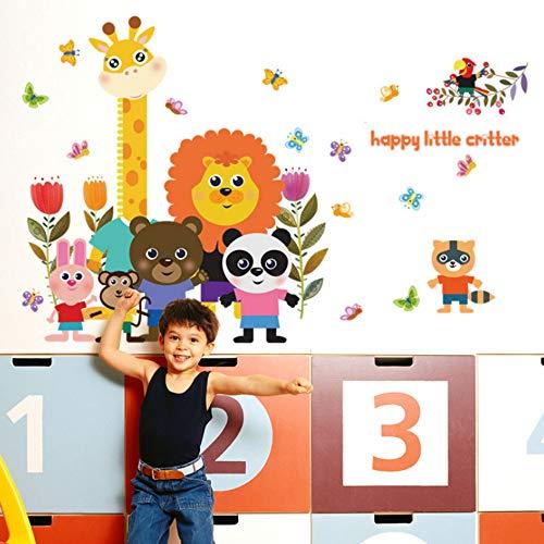 Yzybz Niedlichen Cartoon Tier Kindergarten Kinder Wohnzimmer Vinyl Abnehmbare Tür Diy Wandaufkleber Abziehbilder Dekoration Kunst Wandbilder Poster ()