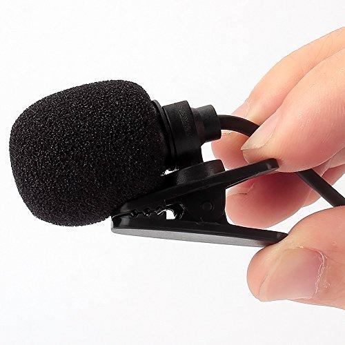 NAVISKAUTO 3,5mm Externes Mikrofon Mic Klinke Klinkenstecker 2M Kabel Plug und Play Freisprech für Autoradio Moniceiver Naviceiver Auto DVD Player Notebook Laptop Schwarz
