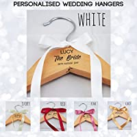 Bride Personalised Wedding Bridal Bridesmaid Keepsake Prom Coat Hangers - Laser Engraved, NO Vinyl Stickers Used – Top Quality Personalised Wedding Dress Coat Hanger - L1032