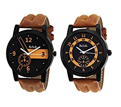 Relish AZ001 Analog Tan Watches combo for Mens & boys
