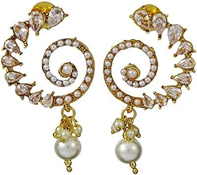 Matra El diseñador tradicional indio del Goldtone cuelga el pendiente fijó las joyería nupcial de las mujeres