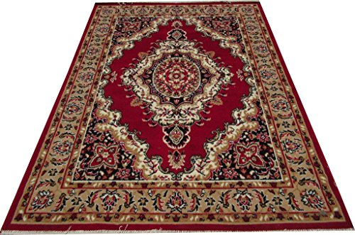 ZIA CARPETS MOST PREFER FLORAL DESIGN CARPET 6X8 FEET(180X235CM.) RED