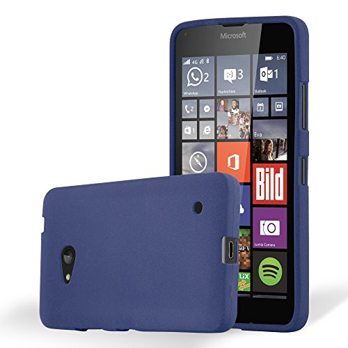 Preisvergleich Produktbild Cadorabo Hülle für Nokia Lumia 640 - Hülle in Frost DUNKEL BLAU – Handyhülle aus TPU Silikon im matten Frosted Design - Silikonhülle Schutzhülle Ultra Slim Soft Back Cover Case Bumper