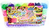 XXL Loom Twister Loom Kit in Rainbow colours 2000+ 1000 extra bands with other various colours Friendship bands Rubber DIY KIT with charms