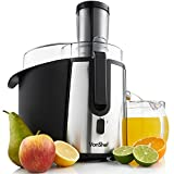 VonShef Whole Fruit Juicer Professional Centrifugal Juice Extractor Powerful and Low Noise at 990W - with a Juice Jug & Cleaning Brush
