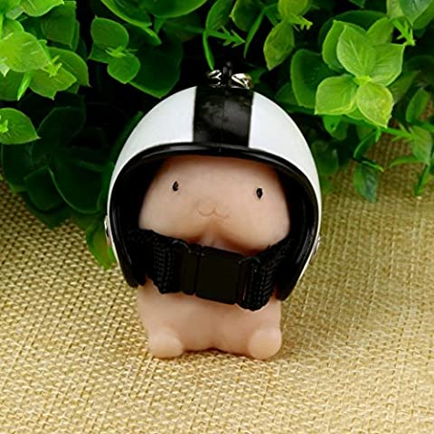 Fashion Lovely Keychain ! Xshuai® Newly Hot Cute Mini Toy Soft Mochi Dingding Squishy Focus Squeeze Abreact Healing Toy Fun+Key Chain Helmet Gifts for Kids and Adults