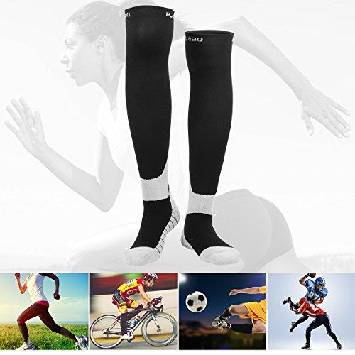 Unisex Medizinische Kompressionsstrümpfe Herren Damen für Reisen Flug Sport Laufen Fußballspiel Jogging, Thrombosestrümpfe Knie, Stützstrümpfe, Sportstrümpfe, Laufsocken, Running Socken Universal Größe, Size L ( 40-44CM )