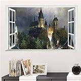 ACNails-Wandsticker Wandtattoo Wand Tattoo Aufkleber Kinder Sticker Harry Potter Hogwarts Motive Cartoon- #0130 (S)